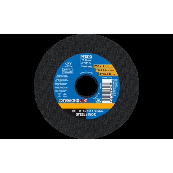 Δίσκοι Κοπής σιδήρου - inox Ø 115x1 mm PSF STEELOX  Δίσκοι Κοπής/Λείανσης